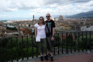 John & Shirley, 2 pairs of fantastic Vintage Sunglasses and 1 fantastic city, Florence 2011.