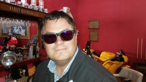 Mike Brewer in Persol RATTI GHMP red mirrored.