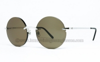 Cartier ROUND rimless TITANIUM FULL SET