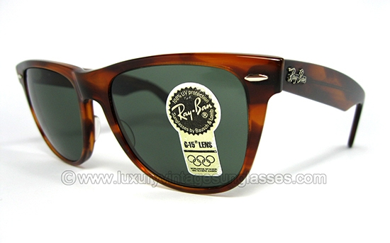 buy ray ban usa  ray ban wayfarer ii mock tortoise by b&l: vintage sunglasses made in u.s.a.