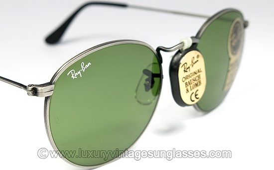 54440fe980 Ray Ban Round Metal RB-3 49 mm B L  Vintage-Sunglasses made in USA.