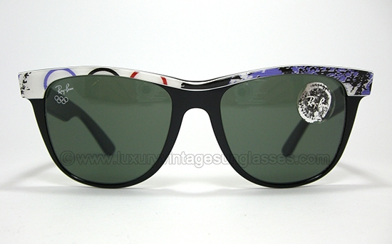 179da516a9 Ray Ban Wayfarer II Olympic series by B L  Vintage Sunglasses by Bausch    Lomb.