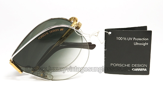 6240fde4413 Porsche 5628 FOLDING 41 Gold   Silver  Vintage folding Sunglasses from  80s.