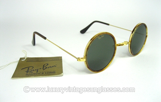 0dad36649b Ray Ban Round Metal B L (Cheyenne)  Vintage Sunglasses made in U.S.A. by  Bausch   Lomb.