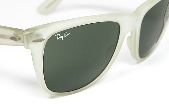 classic 1980s ray ban wayfarer  ray ban wayfarer ii matte crystal by b&l: rare vintage sunglasses made in u.s.a. in the '80s.