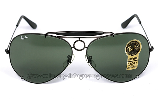 ray ban sunglasses made in usa  ray ban sharp shooter x large 65 mm by b&l: vintage sunglasses made in u.s.a.