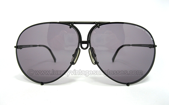 Porsche Aviator Sunglasses  luxury vintage sunglasses details of porsche design 5623 matte black