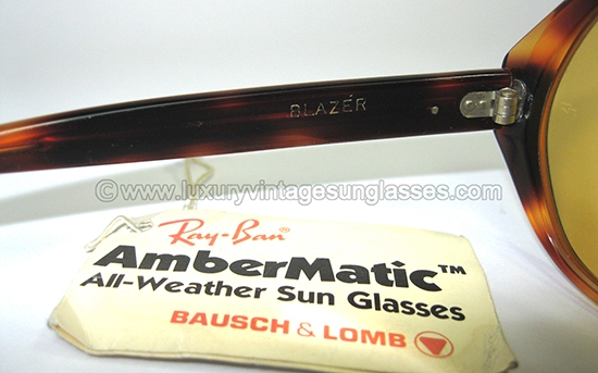 bf54dc13a4 Ray Ban BLAZER AMBERMATIC by B L  Vintage Sunglasses made in U.S.A. in the   80s.