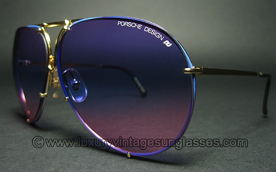 307a12fb9842 Porsche 5623 BLUE-GOLD WOW!!!  Original Vintage Sunglasses made in Austria  in the  80s.