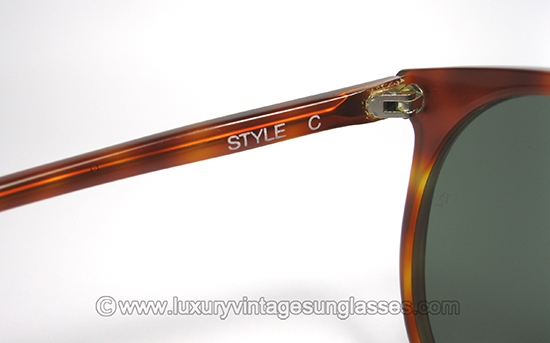 84ecaf9ecb7d2 Ray Ban STYLE C by B L  Original Vintage Sunglasses made in USA in the  80s.