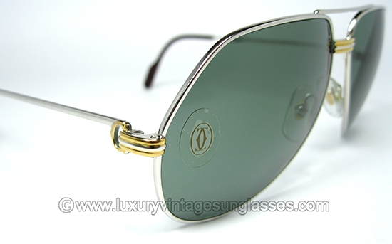 086ee4cfca6a Cartier Vendome Louis Platine 62-14  Vintage Sunglasses made in France  80s.