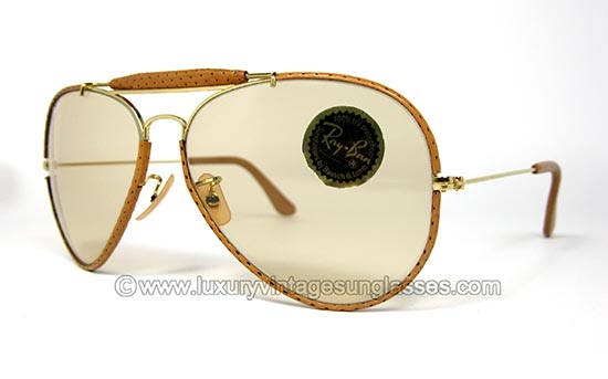 buy ray ban usa  ray ban outdoorsman ostrich leathers 62 14 b&l: vintage sunglasses made in u.s.a.
