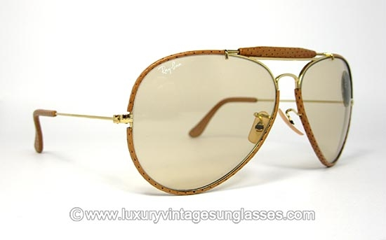 eb5336825361b Ray Ban Outdoorsman Ostrich leathers 62-14 B L  Vintage Sunglasses made in  U.S.A.