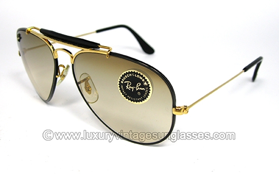 ray ban sunglasses aviator vintage  ray ban outdoorsman precious metal 58 mm by b&l: vintage sunglasses made in u.s.a.
