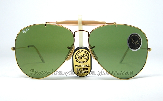 ray ban outdoorsman jx7b  Ray Ban Outdoorsman RB-3 62 mm GOLD by B&L: Vintage-Sunglasses made in  USA