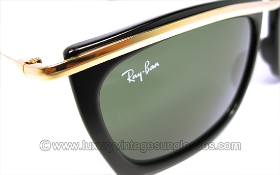 ray ban 5  ray ban olympian ii ebony by b&l: vintage sunglasses made in usa.