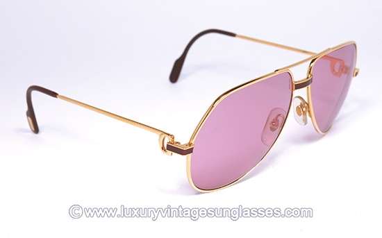 1e9a86b0571f Cartier Vendome Laque 59-14 Pink lenses  Vintage-Sunglasses made in France.