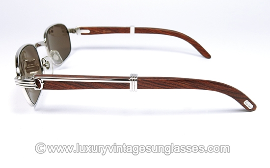 997db3e7670c Cartier PALISANDER ROSEWOOD Breteuil PLATINUM 52mm Large  made in France.