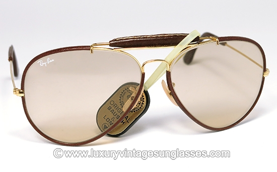 2136a107dce48 Ray Ban Outdoorsman Leathers 62-14 B L  Vintage Sunglasses made in U.S.A.