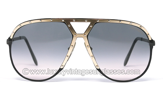 71aa40986037 Alpina M1 Large West Germany Black-Gold: Original Vintage Sunglasses made  in the '80s.