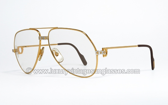 cartier sunglasses santos hlxe  Cartier Vendome Santos 59-14 Photochromic : Vintage Sunglasses made in  France